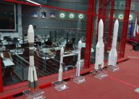 Kourou 7 - rocket models and main control centre
